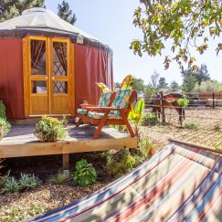 16' Yurt getaway with horses