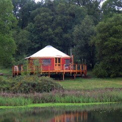 24' Yurt Cabin by cattails