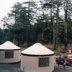 The first yurts in Oregon State Parks