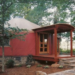 Exterior of Rosa Lee's Yurt
