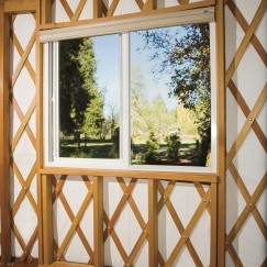 Our new Custom Curve Glass Window System - © 2011 Pacific Yurts Inc.