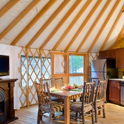Comfy Yurt Dining Room