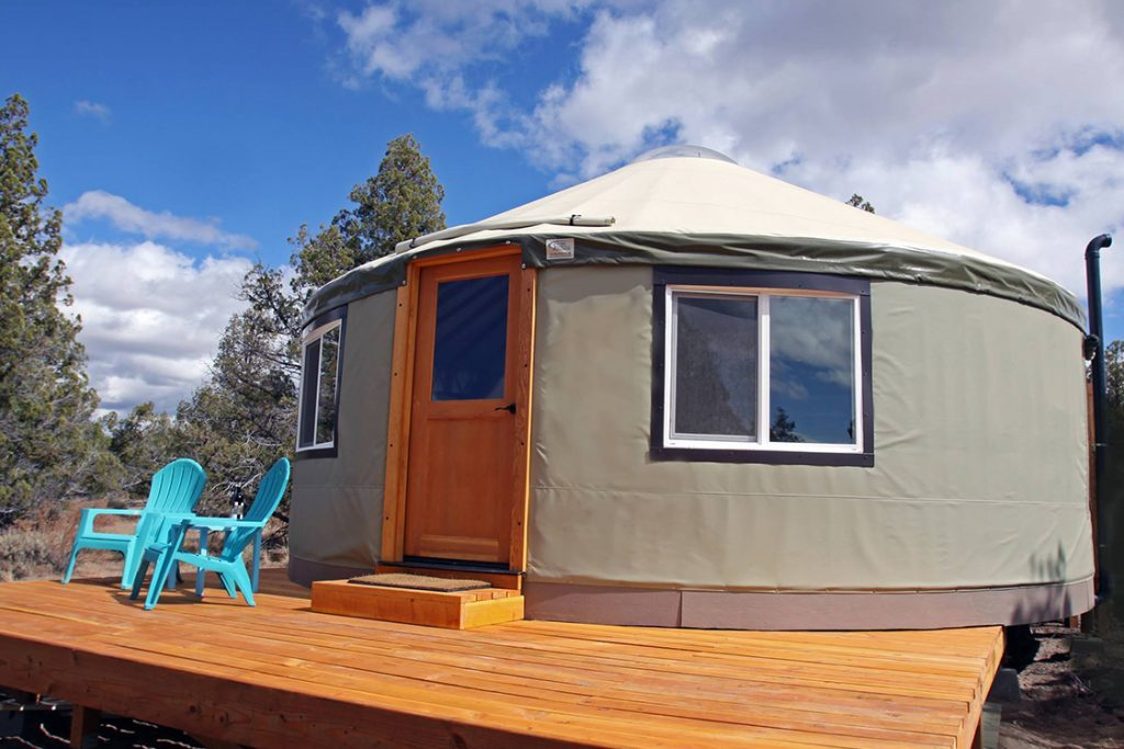 yurt with deck